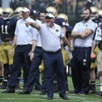 Kelly joins elite group entering 6th season at Notre Dame