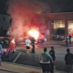 Truck ignites downtown Friday