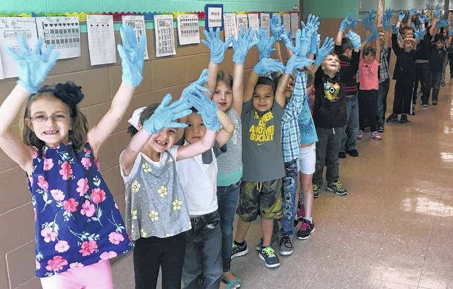 East End Elementary School in Wilmington lent their gloved hands to the campaign.