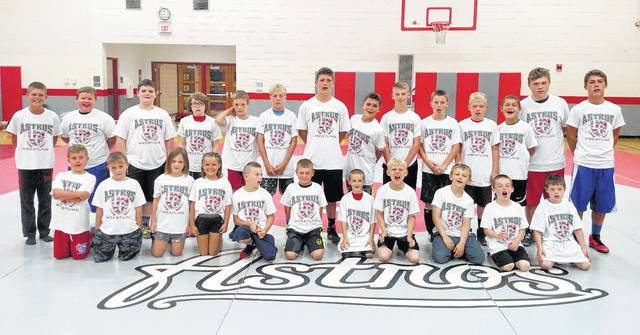 The second annual combo summer camp for East Clinton wrestlers and football players was held last week. There were a total of 25 wrestlers in the morning session then 23 of those athletes participated in the football camp in the afternoon.