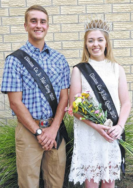 The 2017 Clinton County Fair King is Andrew Houseman and Queen is Bridgette Thompson.