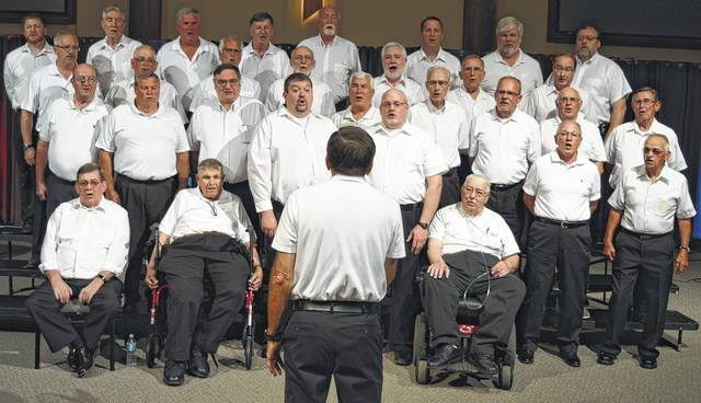 The Unified Christian Men's Chorus rehearses this month at the Wilmington Church of Christ.
