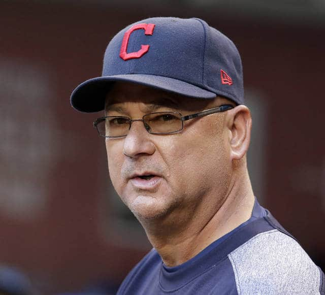 FILE - In this April 8, 2017, file photo, Cleveland Indians manager Terry Francona looks over the field during the first inning of a baseball game against the Arizona Diamondbacks, in Phoenix. Francona underwent a procedure to correct an irregular heartbeat that sidelined him for a few games and will keep him away from next week's All-Star game. The 58-year-old Francona, who had been experiencing dizziness, fatigue and a rapid heart rate over the last month, had a cardiac ablation performed on Thursday, July 6, 2017, at the Cleveland Clinic.(AP Photo/Rick Scuteri, File)