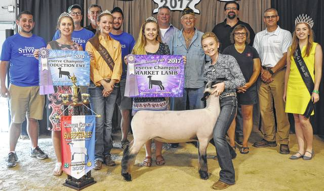 Madison Gilbert's reserve grand champion market lamb brought $1,175 at the Clinton County Junior Fair Livestock Sales. The buyers are ATSG (Air Transport Services Group), Adams Gravel and Excavating, American Legion Post 49, Bane-Welker Equipment, Belles Farm Animal Veterinarian Services, Bush Auto Place, Clinton County Board of Realtors, Culberson Family, Dailey's Family Farm, Generations Pizzeria, Groves Tire & Service, High Top Show Stock / Roehm Family, Johnson Boer Goats, Master Feed Mill Inc. in Wilmington, Merchants National Bank, Mootz Trucking, Orchard Veterinary Care Inc., R+L Carriers / Roberts Convention Centre, Reynolds-Smith Funeral Home, Skyline Chili in Wilmington, Brady and Donna Snyder, U.S. Rep. Steve Stivers, Webbland Farm Excavating, Wilmington Lions Club, World Equestrian Center, Sunrise Cooperative, Arehart-Brown Funeral Service LLC, Schneder Farms, and Gary Massie.