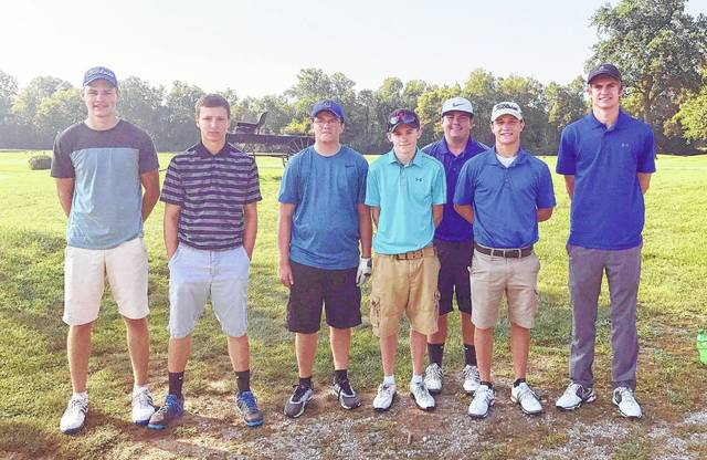 The Clinton-Massie High School boys golf team, from left to right, Max Carnevale, Nick Young, Clay Carroll, Carsyn Creager, Keith Mineer, Cam Collett, Alex Burnham. Team members Ryan Riggers, Jackson Schultz and Michael Moritz were not present for the photo.