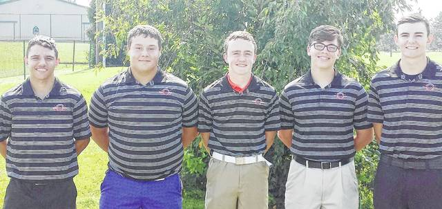 The Wilmington High School boys golf team, from left to right, Cameron Smart, Zack Zeckser, Jack Murphy, Dylan Combs and Hunter DeWeese.