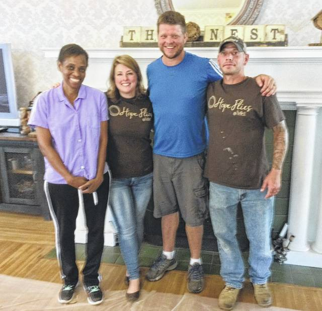 From left are Angela Mitchell-Koster, Allison Rambo, Micah Steele and Rick Johnson.