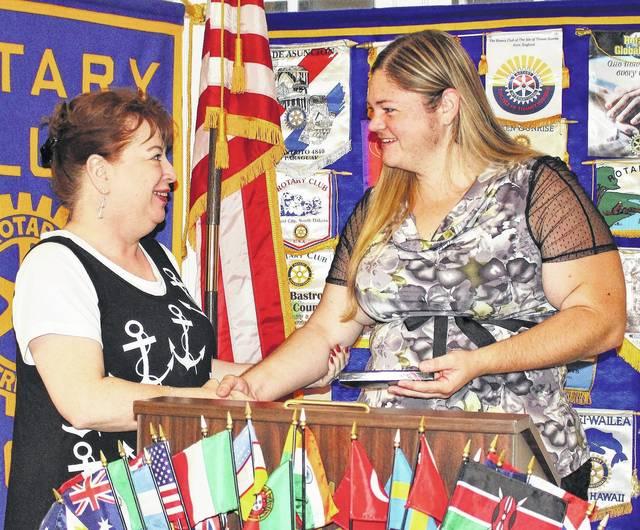 AM Rotary VP Melissa Reeder, left, introduced Tabitha D. Speaight, Myofascial Release Therapist at Dawn of Healing Therapeutic Massage, as the club's weekly speaker. She delivered an informative message of body awareness and mindfulness.