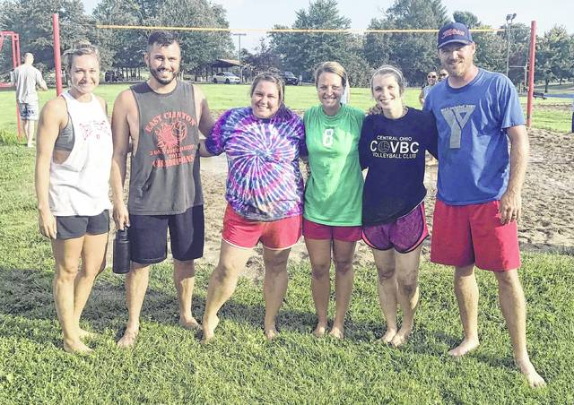 The Bond Insurance team won the Thursday night sand volleyball league at J.W. Denver Williams Jr. Memorial Park. The team posted an unbeaten season record. Team members were, from left to right, Natalie Snively, Steven Sodini, Sarah Sodini, Michelle Blackburn, Samantha McGraw and Jeremy McGraw.