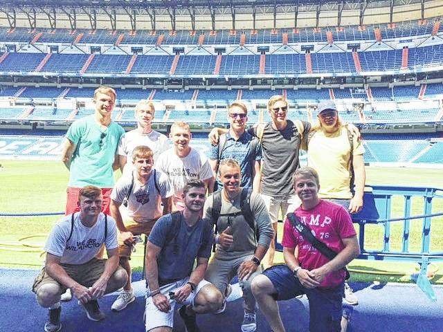 Team photos at Real Madrid's Santiago Bernabéu Stadium.