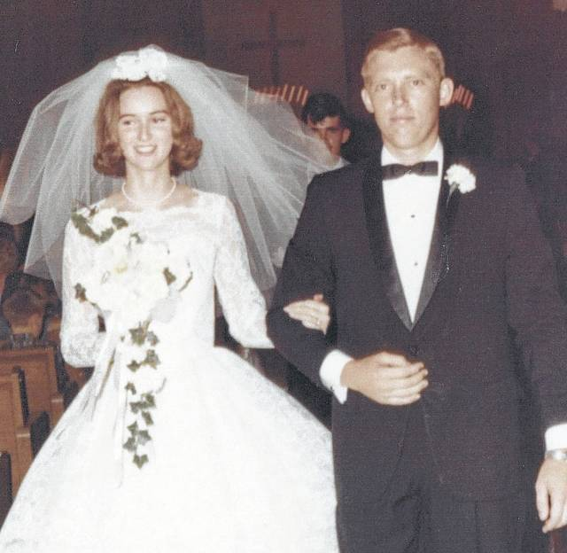 The just married Marilyn and Pat Larrick