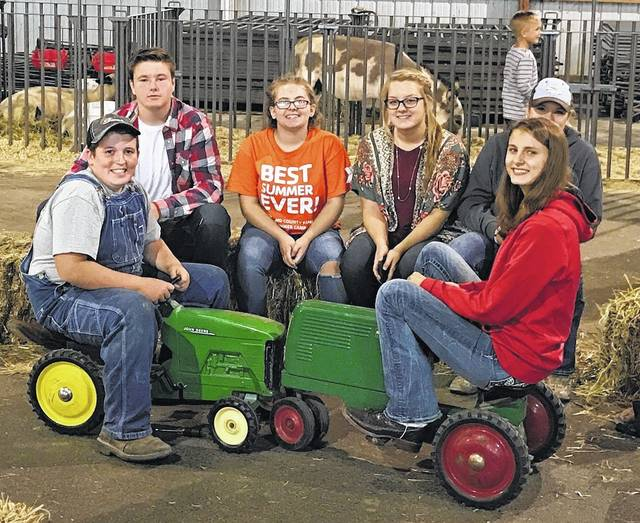 The East Clinton FFA held its annual petting zoo and kids' corner at the Clinton County Corn Festival Sept. 8-10. The chapter provided multiple crafts each day for kids to enjoy including bird seed sunflowers, paper animals, door hangers, bowl turtles and cup animals. Along with all the crafts, the East Clinton FFA brought a wide variety of farm animals including rabbits, ducks, chickens, goats, sheep, a donkey, two calves, a hog and miniature horses. The chapter thanks everyone involved in making this event a success.