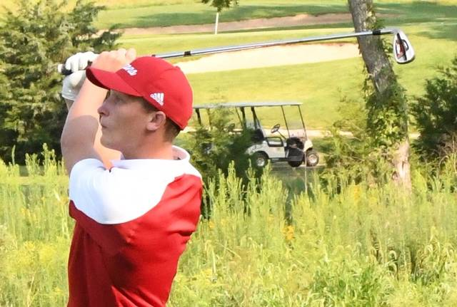 Clinton-Massie's Cam Collett finished with an 87 Monday in the Div. II Southwest District golf tournament at Beavercreek Golf Club.