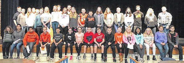 The WMS students were honored at a surprise ceremony.