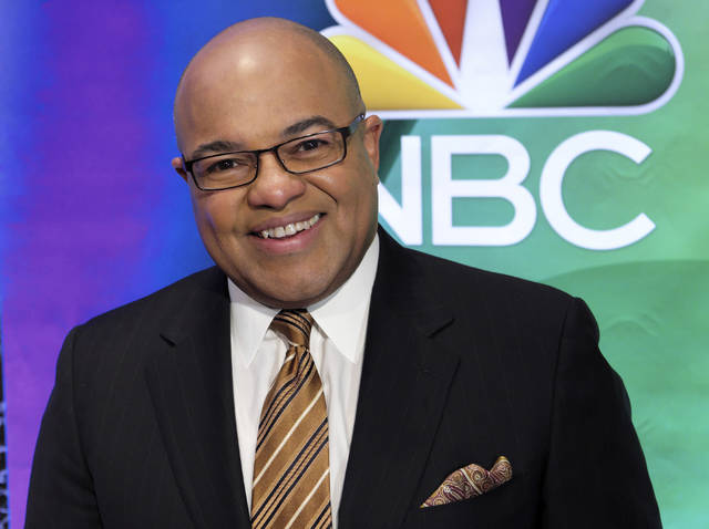 FILE - In this March 2, 2017, file photo, Mike Tirico attends the NBC Universal mid-season press day at the Four Seasons in New York. Tirico will be NBC's prime-time host for the Winter Olympics, which begin a few days after the Super Bowl in February. (Photo by Charles Sykes/Invision/AP, File)