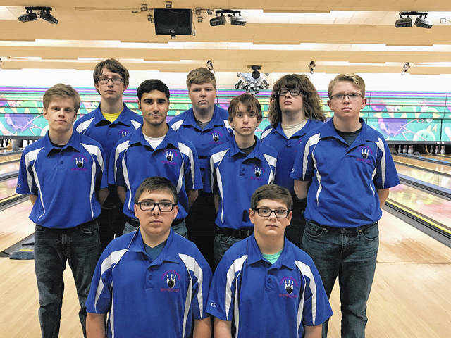 The Clinton-Massie High School boys bowling team, from left to right, front row, Mitchell Lennon, Luke Campbell; middle row, Chandler Morsch, Jacob Wellman, Adin Lamb, Joey Marburger; back row, Logan Rauh, Corey Potts, Hunter Broderick.