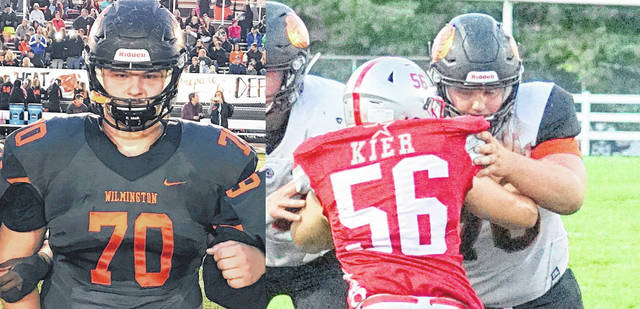 Wilmington's Conner Barton was named Div. III third team All-Ohio Tuesday by the Ohio Prep Sportswriters Association. The 6-3, 275-pound senior linemen helped the Hurricane offense total more than 4,000 yards this season, despite losing its top three players in the middle of the season.