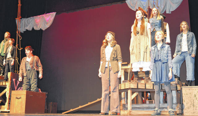 "Wilmington High School will continue its presentations this weekend of ""Peter and the Star Catcher"", WHS theater's fall production. Show times are Saturday, Nov. 11 at 7:30 p.m., and a matinee on Sunday, Nov. 12 at 2 p.m. at the WHS auditeria. All tickets are $10. You can reserve tickets on the website www.theatreatwhs.weebly.com . ""Peter and the Star Catcher"" tells a ""backstory"" for the character of Peter Pan and his arch-nemesis Captain Hook, according to the Wilmington City Schools website. For more photos of the dress rehearsal, visit wnewsj.com ."