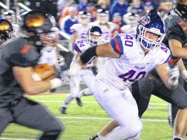 Trey Uetrecht (40) was named Division IV first team All-Ohio at linebacker by the Ohio Prep Sportswriters Association.