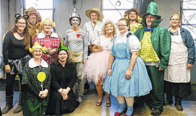 This group revisiting The Wizard of Oz was recognized by The Allen Company: Brandy Dawley, David Rose, Diane Caldwell, Susan Crowe, Jess Caldwell, Sandy Runyon, Werner Crawford, Lynda Cothern, Jessica Allen, Tyler Williams, Jamie Tackett and Kathy Gibson.