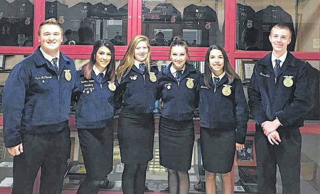 East Clinton FFA members performed well in the mock job interviews.