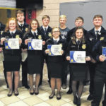 EC FFA holds Greenhand, Chapter Degree Banquet