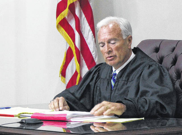 Highland County Juvenile Court Judge Kevin Greer speaks during proceedings Friday.