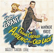 """Arsenic and Old Lace, the classic Frank Capra film starring Cary Grant, Priscilla Lane, Raymond Massey, Jack Carson, Edward Everett Horton and Peter Lorre, will be showing on the Murphy Theatre's new screen at 2 p.m. Thursday, Nov. 16. In the 1944 film, """"A drama critic learns on his wedding day that his beloved maiden aunts are homicidal maniacs, and that insanity runs in his family,"""" according to imdb.com. Suggested donation is $5 at the door; doors open at 1:30 p.m."""