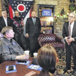 Mike DeWine gives campaign talk in Wilmington