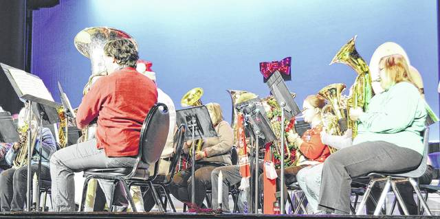 The annual Merry TubaChristmas Concert, shown during last year's event, takes place from 5-5:45 p.m. Saturday at the Murphy Theatre.
