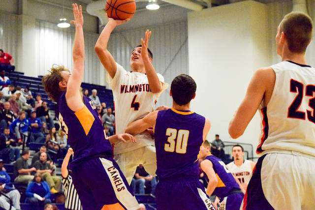 Cameron Coomer (4) had 17 points as Wilmington fell to Campbell County 82-59.