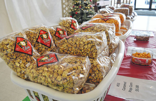 Some of the gourmet popcorn offered at the Lions Candy Store.