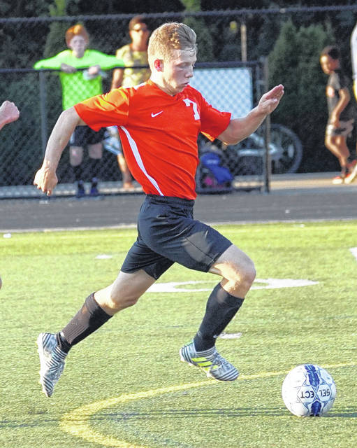 Sam Spirk is among Ohio's all-time leading goal scorers in boys soccer history. He finished his WHS career with 117 goals.
