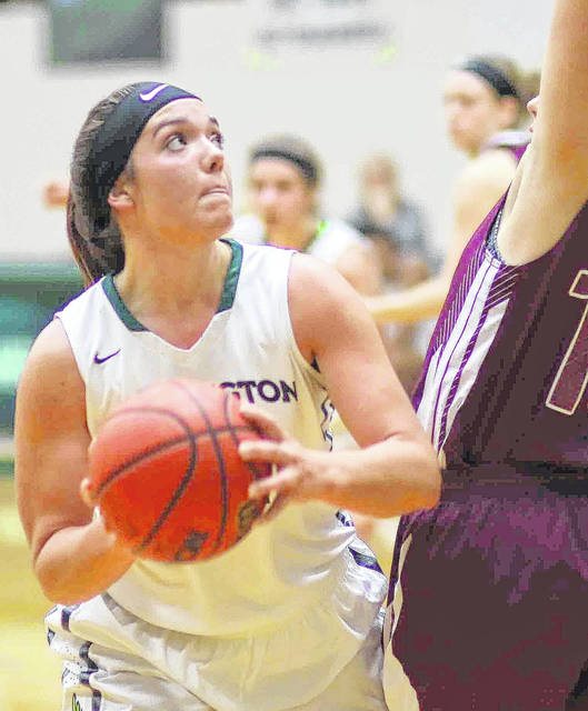 Emily Harman grabbed 11 rebounds to lead Wilmington in Saturday's 62-51 win over Mount St. Joseph.