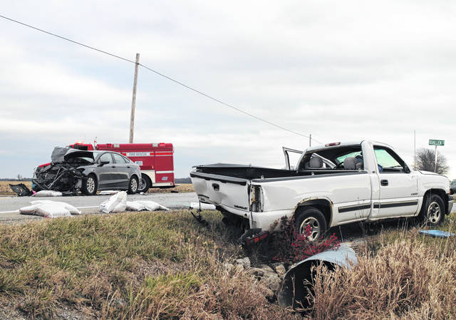 A Lynchburg man sustained non-life-threatening injuries on Thursday in a two-car accident on U.S. Route 50 west of Lynchburg in Highland County. According to trooper James Brooks with the Ohio State Highway Patrol, Raymond Koch, 78, Lynchburg, was driving westbound on U.S. 50 in a white 2000 Chevrolet Silverado, and was about to turn left on Quallen Road near the Brown County line when he was struck from behind by a gray 2015 Ford Fusion driven by Jonathon Pfeiffer, 43, Midland. Koch's vehicle rolled once and came to rest in a ditch on the side of the road, according to Brooks. Brooks said Koch was transported by ground to Highland District Hospital with non-life-threatening injuries. Pfeiffer will be charged with assured clear distance ahead, Brooks said.