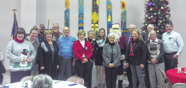 The Wilmington Kiwanis Club held their annual Christmas party Thursday at the Wilmington Presbyterian Church. Special guest was Santa who gave small token of appreciation for being good during the year to club members and their guests along with Key Club Lt. Gov. Ashley Newbold of Alter High School. The Kiwanis Club meets the first and third Thursdays at the church. Contact Ron Johnson at 937-289-7226 for more information.