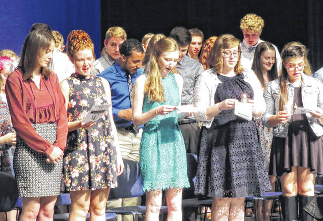 Wilmington High School inducted students into the National Honor Society in April.