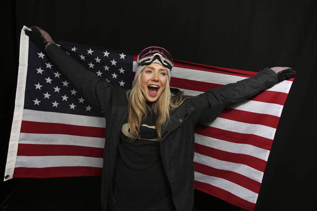FILE - In this Sept. 26, 2017, file photo,United States Olympic Winter Games slopestyle skier Maggie Voisin poses for a portrait at the 2017 Team USA Media Summit, in Park City, Utah. Voisin has already qualified for her second Olympics. Now, the goal is to compete in her first. (AP Photo/Rick Bowmer, File)