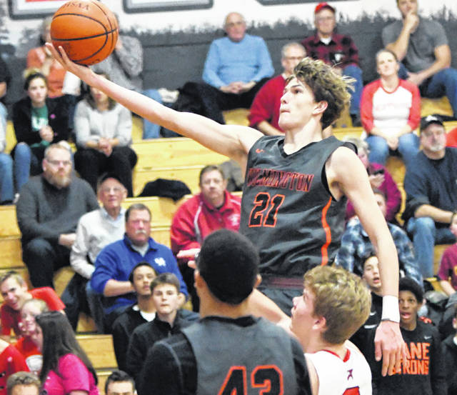 Layne Griffith had 15 points for Wilmington in Friday night's 48-25 win over New Richmond.