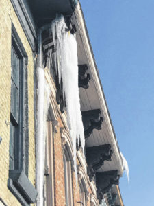 WFD removes ice hazards downtown
