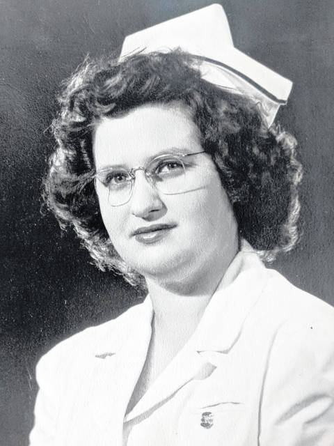 Jeanette Payne's photo from her 1944 graduation from nursing school.