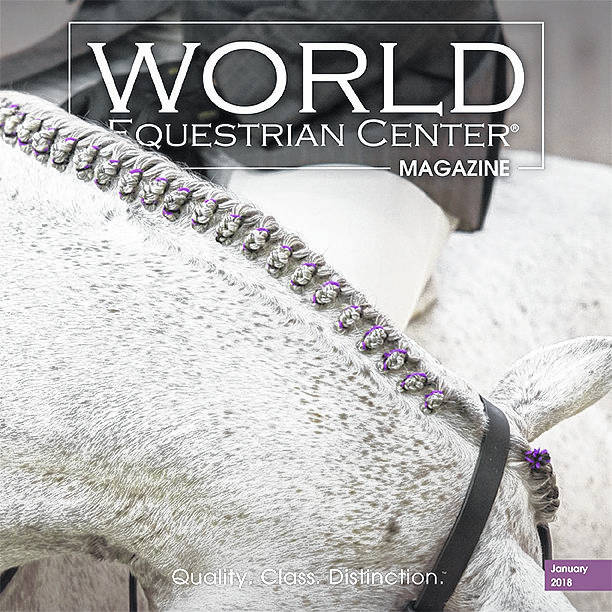 The cover of the World Equestrian Center Magazine's first issue.