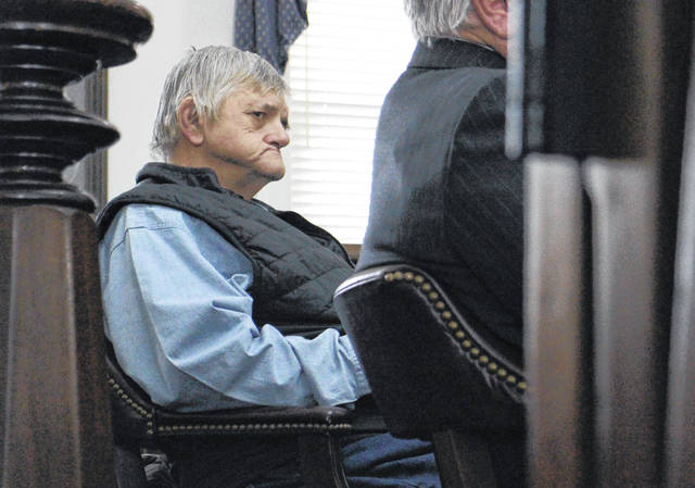 Terry Yankie sits in Highland County Common Pleas Court on Tuesday during his trial for arson.
