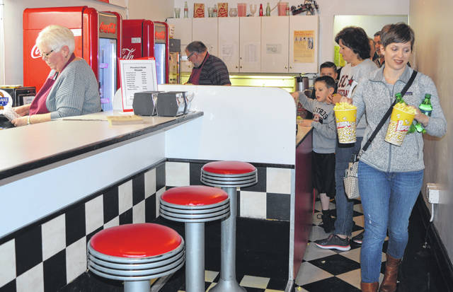 The Soda Shoppe in the Murphy Theatre was a busy place minutes before the start of a Saturday afternoon show with comedy magician Matthew David Stanley.