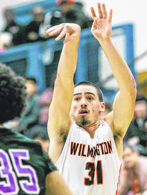 Matt Smith drained seven three-pointers and finished with a game-high 23 points Friday as Wilmington defeated Western Brown 65-49 in SBAAC American Division boys basketball action.