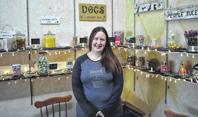 Breya Hodge, the owner of Breya's Old Fashioned Pantry, opened a new candy shop in her store on 112 S. Broadway St. in Blanchester on Tuesday. Hodge invites locals to come by and enjoy some sweet treats or a cup of coffee.