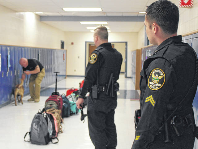 K-9 Drug Search At Blanchester High School