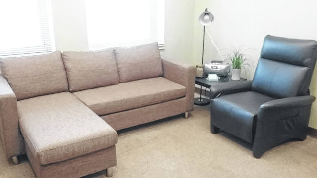 This is the living room at the Alternatives to Violence Center.