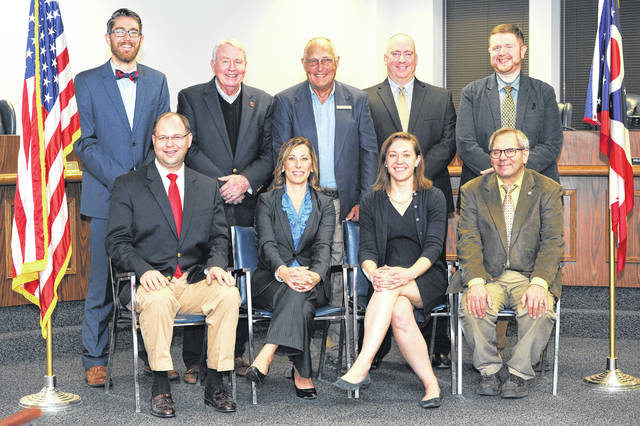 The City of Wilmington elected leadership for 2018 includes, from left: front, Councilmembers Jonathan McKay, Kristi Fickert, Kelsey Swindler and Bill Liermann; and, back, Councilmember Tyler Williams, President of Council Mark McKay, Mayor John Stanforth, and council members Matt Purkey and Michael Allbright.