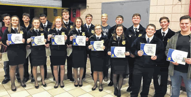 A number of East Clinton FFA members earned their Chapter FFA Degrees and some earned Greenhand Degrees in late 2017. The group's Rural Soil Evaluation Team is seeking financial assistance to get that team to the Nationals in Oklahoma City.